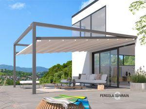 Die Pergola Sunrain Q von Leiner im Angebot bei BWE in Unterschleißheim.