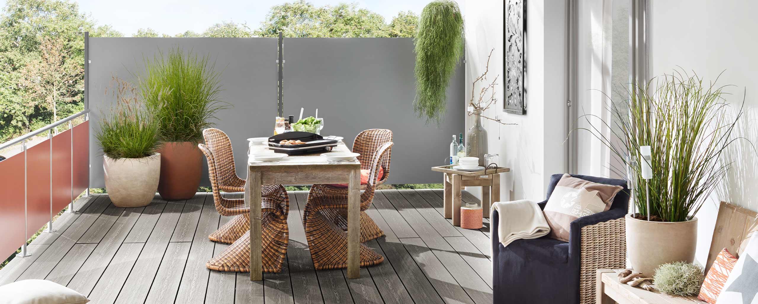 Terrasse und Balkon mit BWE in Unterschleißheim neu gestalten.