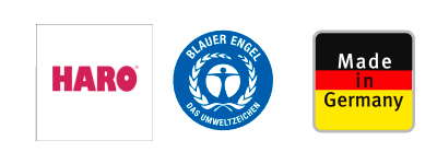 Logo Haro, Blauer Engel, Made in Germany | BWE, Unterschleißheim
