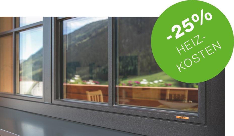 Mit Gaulhofer Fenster bei BWE in Unterschleißheim sparen Sie bis zu 25 % Heizkosten.