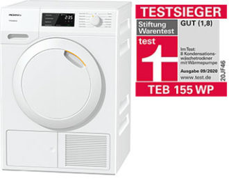 Miele-Waermepumpentrockner-TEB-155-WP - Testsieger | BWE, Unterschleißheim
