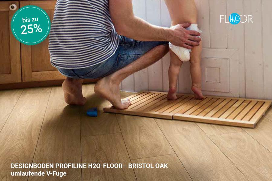 Rabattaktion Boden Topseller Profiline Designboden Bristol Oak | BWE, Unterschleißheim