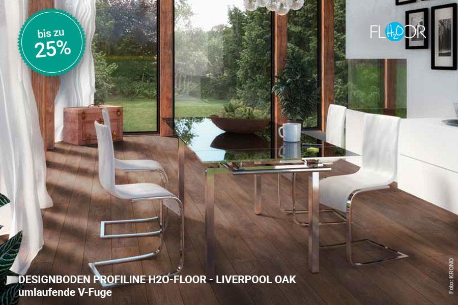 Rabattaktion Boden Topseller Profiline Designboden Liverpool Oak | BWE, Unterschleißheim