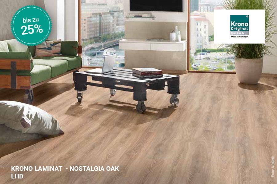 Rabattaktion Boden Topseller Krono Laminat Nostalgia Oak | BWE, Unterschleißheim