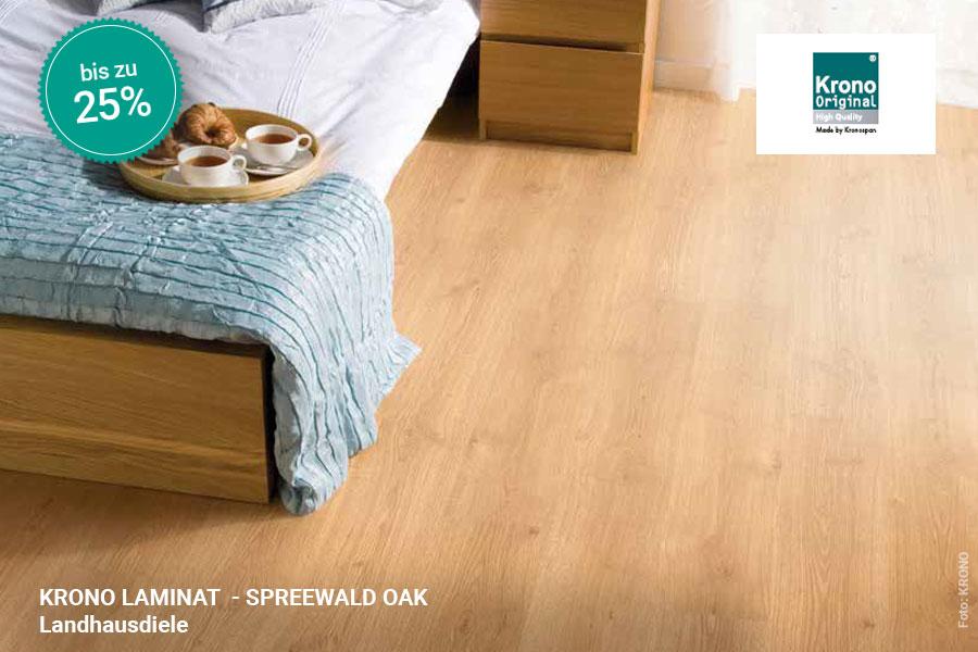 Rabattaktion Boden Topseller Krono Laminat Spreewald Oak | BWE, Unterschleißheim