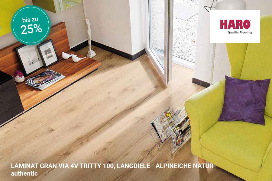 Rabattaktion Boden Topseller Haro Laminat Alpineiche Natur | BWE, Unterschleißheim