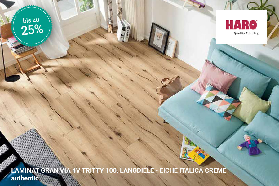 Rabattaktion Boden Topseller Haro Laminat Eiche Italica Creme | BWE, Unterschleißheim
