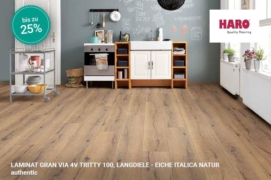 Rabattaktion Boden Topseller Haro Laminat Eiche Italica Natur | BWE, Unterschleißheim