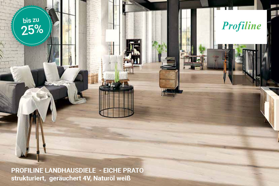 Rabattaktion Boden Topseller Profiline Landhausdiele Eiche Prato | BWE, Unterschleißheim