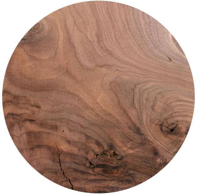 Muster für Maserung Massivholzplatte Nussbaum | BWE, Unterschleißheim