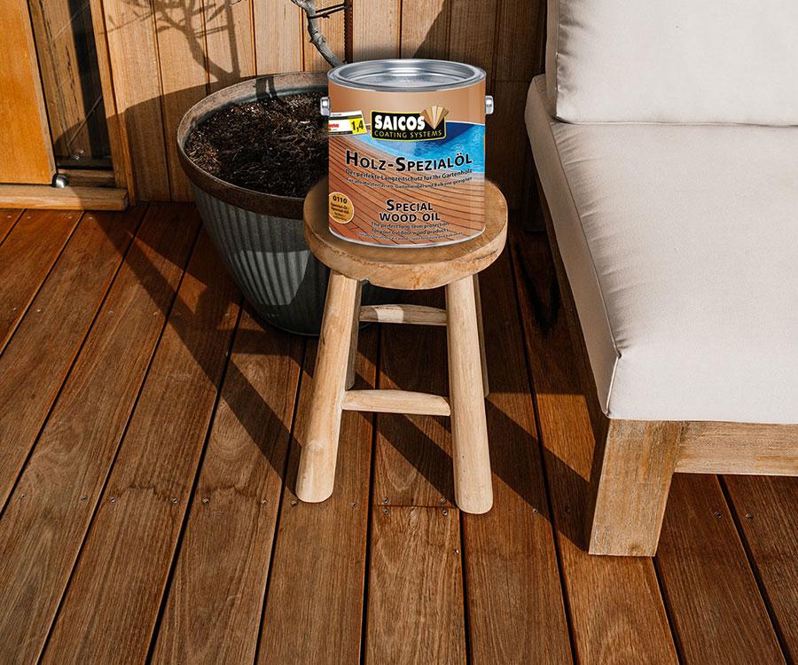 Saicos Holz Spezialöl Produktansicht | BWE, Unterschleißheim