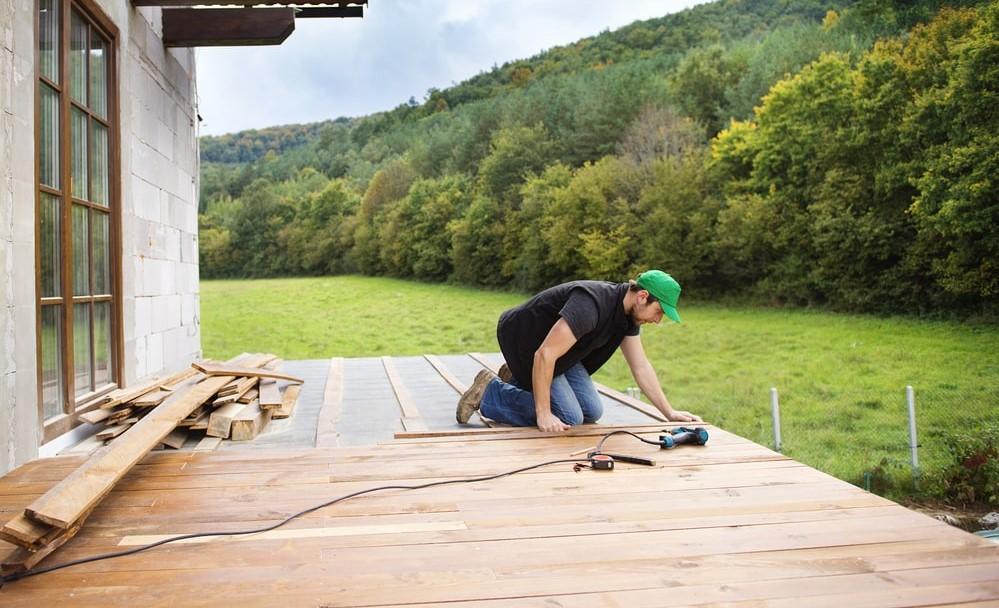 Stimmungsaufnahme Terrassenmontage   BWE, Unterschleißheim