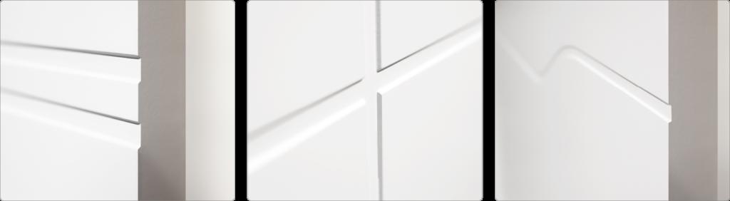 Detailaufnahme HGM Lines Art Rillentür | BWE, Unterschleißheim