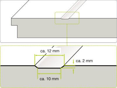 Querschnitt HGM Lines Art Rillentür | BWE, Unterschleißheim