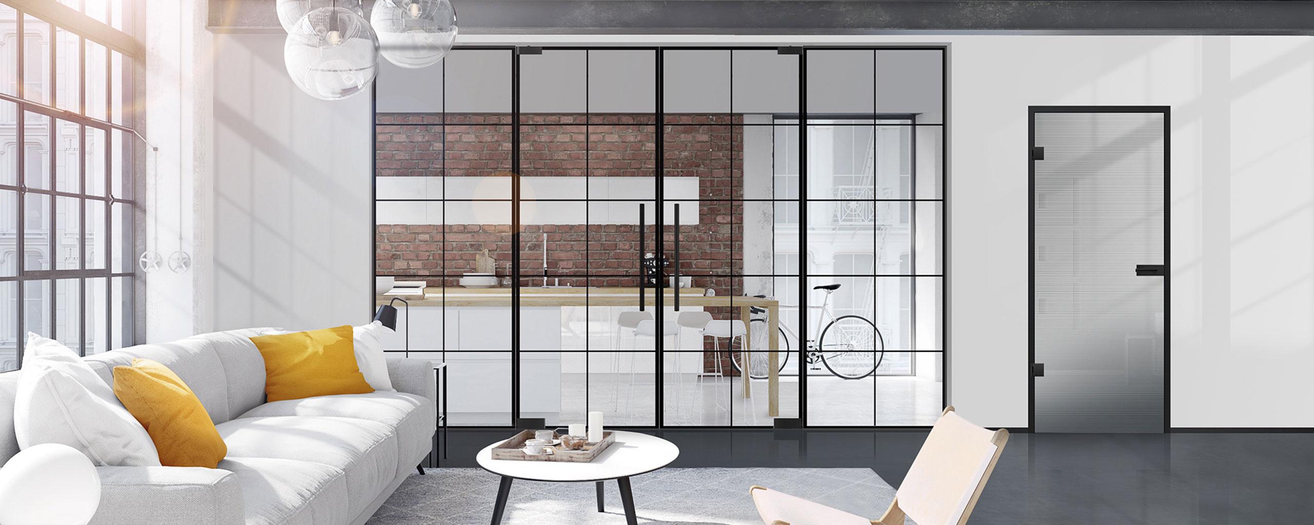 Licht und Harmonei LinesPlus Glastür schwarz Slider | BWE, Unterschleißheim